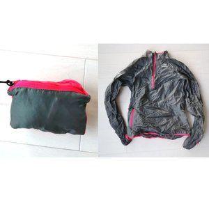 Packable windbreaker in pocket running jacket xs